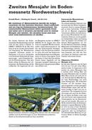 Image de couverture Bodenmessnetz Nordwestschweiz: das zweite Messjahr