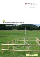 Image de couverture Jahresbericht 2012, Bodenmessnetz Kanton Solothurn